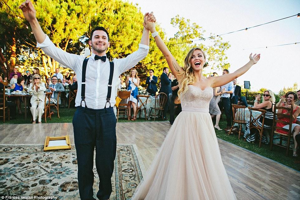 Justin Willman and wife Jillian Sipkins perform levitation trick ...