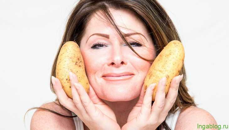 Каждый день я протираю кожу лица ломтиком сырого картофеля. Что мне это дает?
