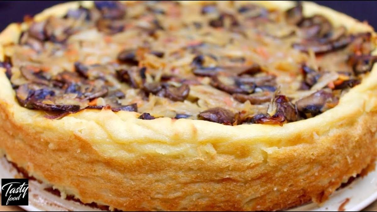Пирог из Картофельного Пюре с Капустой и Грибами! Проще Чем Зразы ...
