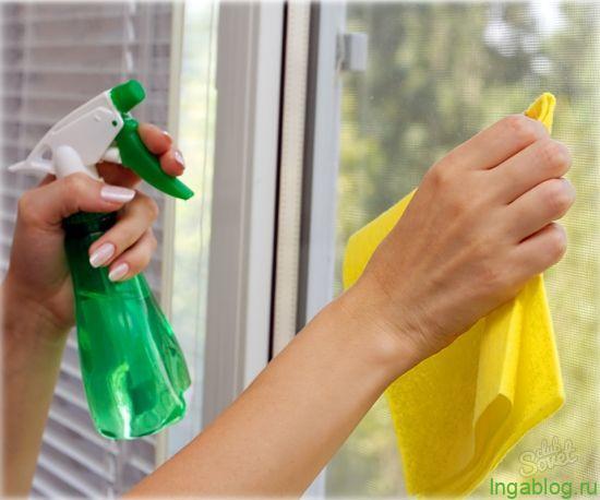 Պատուհանները քացախով լվանալը ...